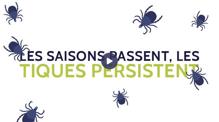 Les saisons passent, les tiques persistent (vidéo)