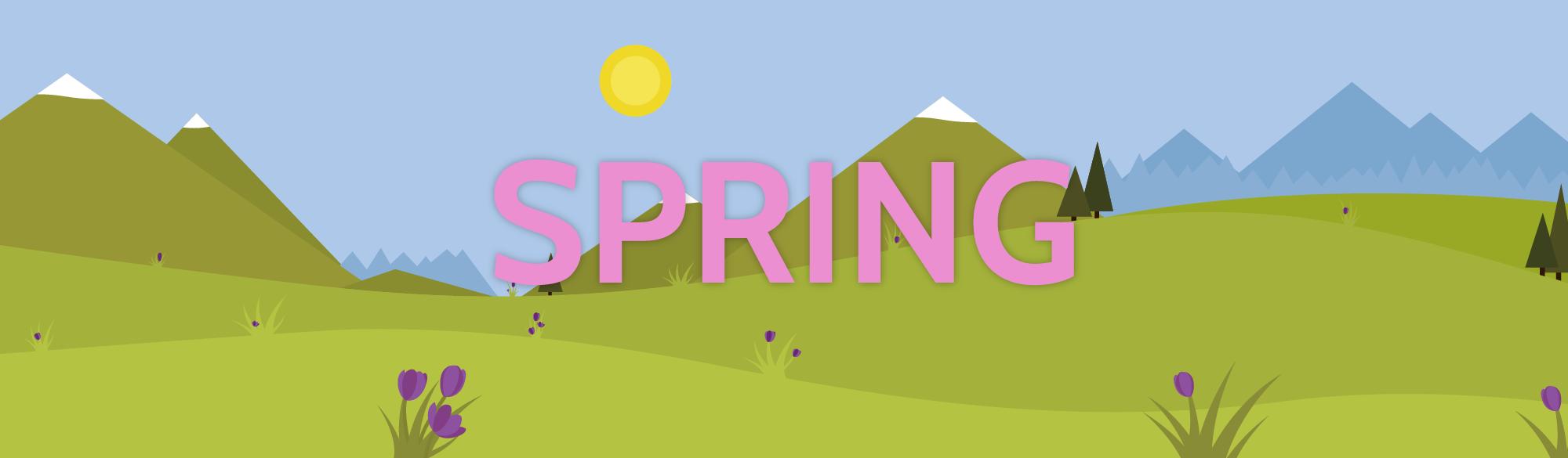 Spring scene.